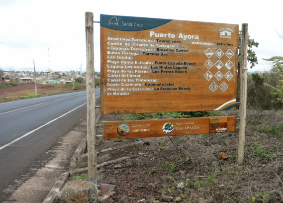 Puerto Ayora Sign